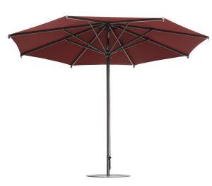 چتر و سایبان پایه وسط استیل قطر ۴ متر