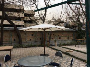 چتر و سایبان پایه وسط چوبی قطر ۳ متر